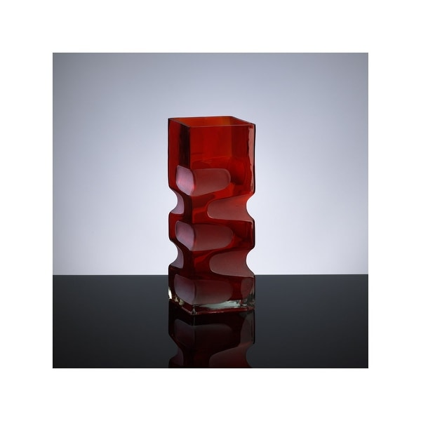 """Cyan Design 1823 11.5"""" Small Ruby Etched Vase - Red - N/A"""