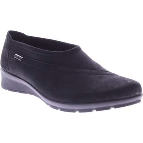 Flexus by Spring Step Women's Sofran Slip-on Black Nubuck Leather