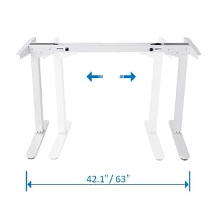 "Mingo Lab 48""H Electric Height Adjustable Standing Desk Frame Ergonomic Solid Steel Sit-to-Stand Desk W/ 7-Button Control Pad"