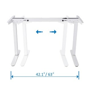 "48""High Dual Motor Electric Height Adjustable Sit and Stand Desk Frame with Seven Button Control Pad."
