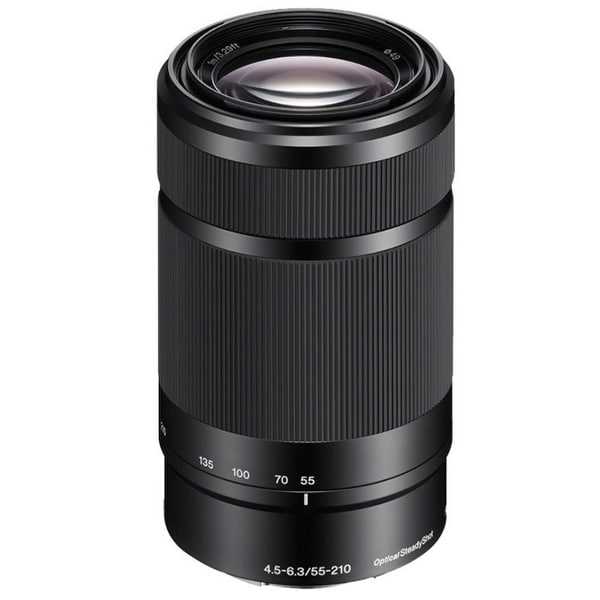 Sony E 55-210mm f/4.5-6.3 OSS E-Mount Lens (Black) - Black