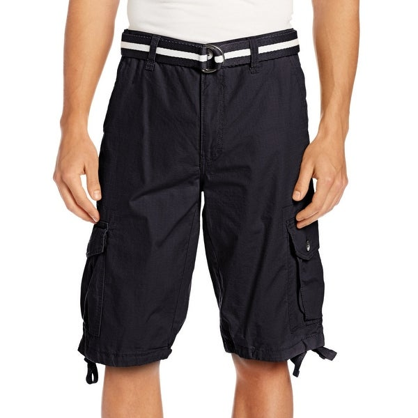 e9c02884e7 Southpole Blue Navy Ripstop Belted Mens Size 36 Cargo Shorts