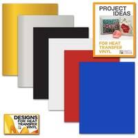 "Siser Easyweed Heat Transfer Vinyl Sheets (6 Pack) 12""X9"" Smooth Custom Tshirt"