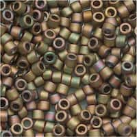 Miyuki Delica Seed Beads 11/0 Metallic Matte Green/Pink AB DB380 7.2 Grams