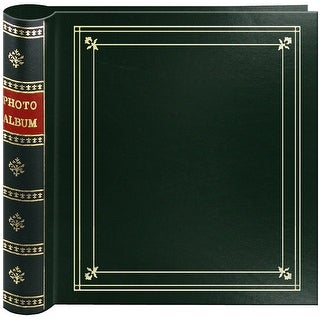 "Pioneer 2-Up Bi-Directional Memo Pocket Photo Album 4""X6""-Hu - Hunter green"