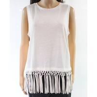 Polo Ralph Lauren NEW White Women's Size Medium M Fringe Knit Top