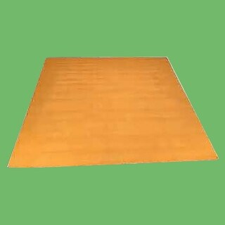 Carpet Runner Yellow 100% Cotton Hooked Rug 30 x 96
