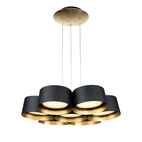 Modern Forms PD-52724 Marimba 7 Light LED Chandelier - 5 Inches Tall