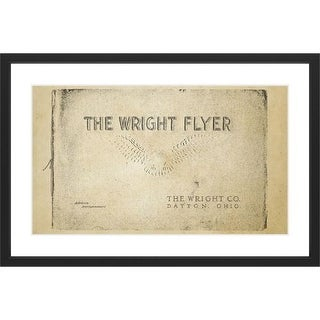 Marmont Hill Wright Flyer - Black Framed Art Print Smithsonian Black Framed Giclee Art Print on High Resolution Archive Paper