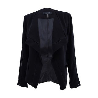 Link to Nine West Women's Wing-Collar Cutout Blazer - Black Similar Items in Suits & Suit Separates