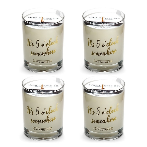 Fine Bourbon Natural Soy Candle, Great Gift, Premium Wax (4 Pack)