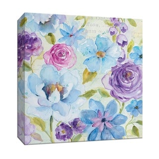 """PTM Images 9-147154  PTM Canvas Collection 12"""" x 12"""" - """"Cool Morning II"""" Giclee Flowers Art Print on Canvas"""