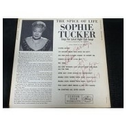 Signed Tucker Sophie The Spice of Life The Spice of Life on the back of the Album Personalized auto