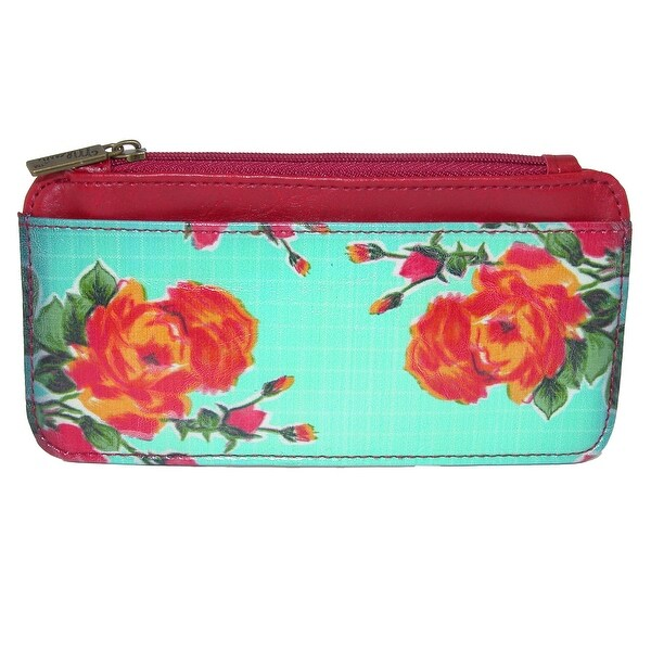 Mlavi Women's Mexican Oilcloth Inspired Flora Card Case Wallet - One size