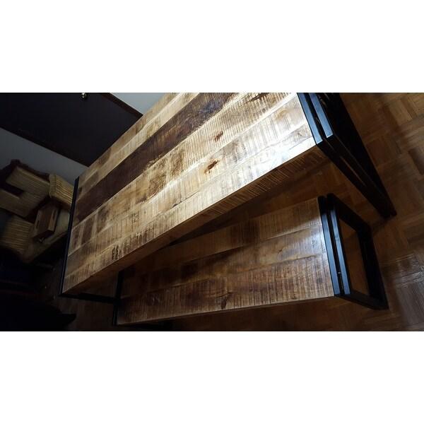 reclaimed wood and metal dining table handmade shop handmade timbergirl reclaimed wood and metal dining table india on sale free shipping today overstockcom 8401748