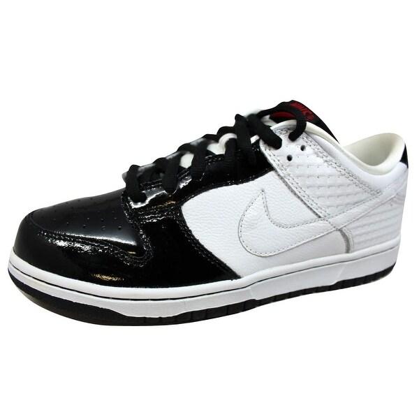 Nike Men's Dunk Low Premium White/White-Black 307696-113 Size 12