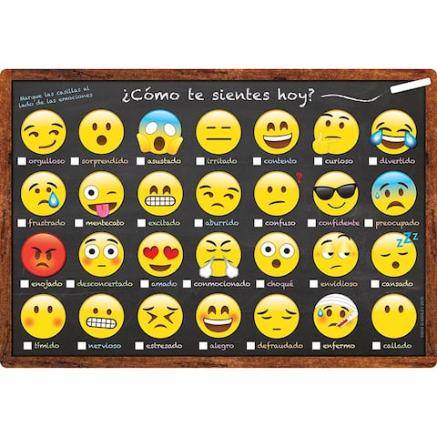 Chart Spanish Feelings and Emotions Dry-Erase Surface