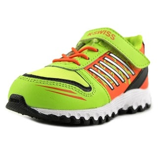 K-Swiss X-160 VLC Toddler Round Toe Synthetic Green Running Shoe