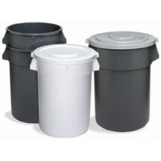Continental 1001GY Huskee Refuse Containers 10 Gallon Grey