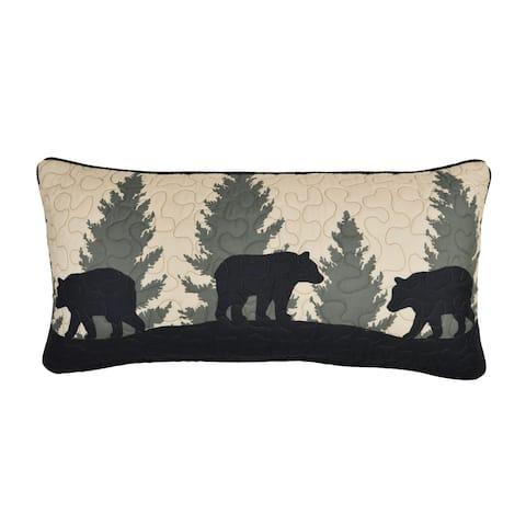 Donna Sharp Bear Walk Plaid UCC Rectangle Decorative Pillow