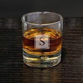Bryne Block Monogram Whiskey Glass