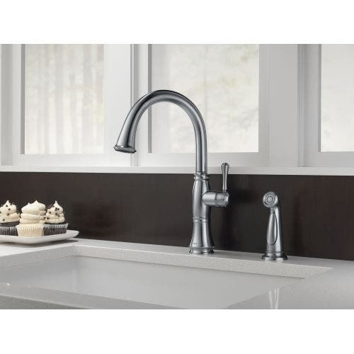 Shop Delta 4297 Dst Cassidy Kitchen Faucet With Side Spray