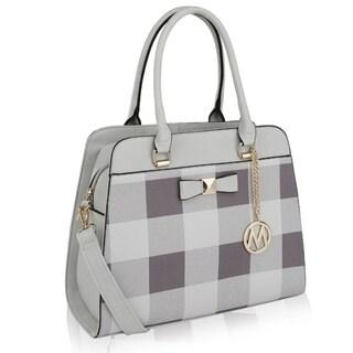 MKF Collection Bridget Plaid Satchel/Shoulder Bag by Mia K. Farrow