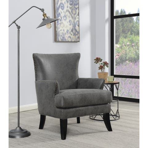 Copper Grove Fatumanongi Transitional Upholstered Nailhead Accent Chair