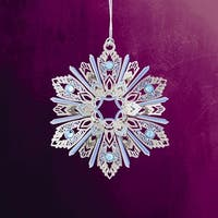 "ChemArt 2.5"" Collectible Keepsakes Jeweled Snowflake Christmas Ornament - BLue"