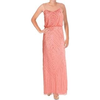Aidan Mattox Womens Mesh Prom Semi-Formal Dress