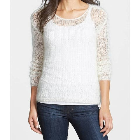 b08e191ff5c Eileen Fisher Ivory Wide-Knit Women s Large L Long Sleeve Sweater