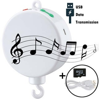 Baby Mobile Musical Box Bedding Rotating Box12 Tunes Battery Operated Support USB Data Transmission