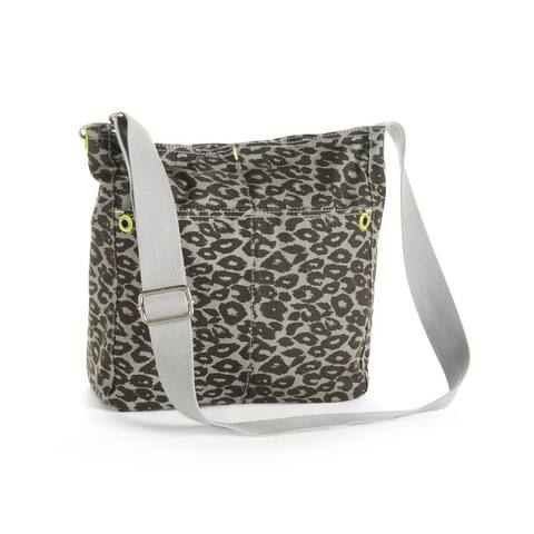 Aeropostale Womens Animal Print Canvas Tote Handbag Purse - Extra Small (16 in. & Under)