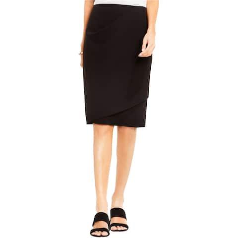 Vince Camuto Womens Faux Wrap Pencil Skirt