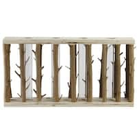 """11.75"""" Branches in Brown Wood Frame with 4 Holes Table Top Decoration"""