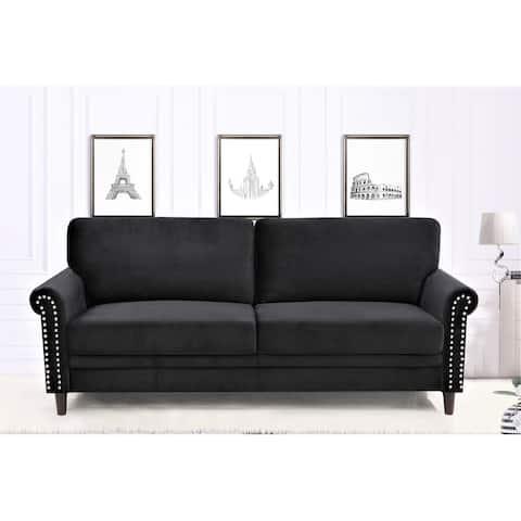 Ceva Nailhead Velvet Sofa