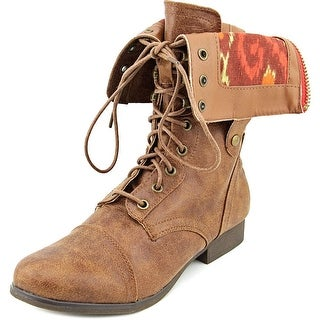 Madden Girl Tiara Round Toe Synthetic Mid Calf Boot