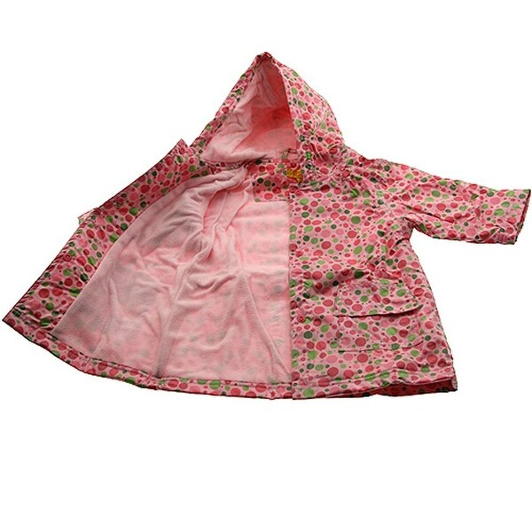 2f6f93a2efafb Shop Pluie Pluie Girls Outerwear Pink Polka Dot Lined Raincoat 12M-8 - Free  Shipping Today - Overstock.com - 18175935