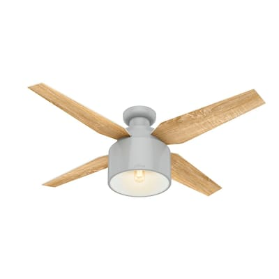 """Hunter 52"""" Cranbrook Low Profile Ceiling Fan with LED Light Kit and Handheld Remote"""