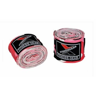 Boxing Hand Wraps Inner Gloves Bandage MMA Training Wrist Strap WRP-5 - camo pink