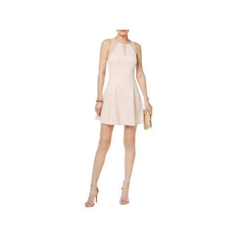 Guess Womens Scuba Dress Perforated Illusion