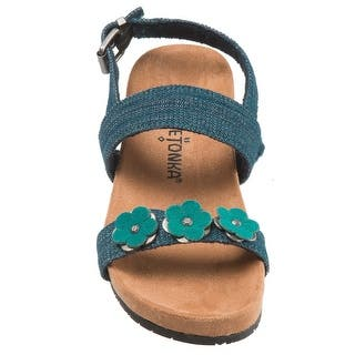 dce510e0c8c Minnetonka Girls  Eloise Fringe Sandal Multi Microsuede · Quick View