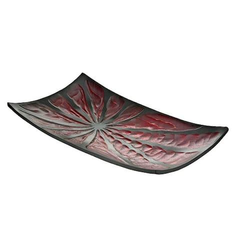 Handmade Stylish Two Tone Rectangular Shaped Serving Platter (Thailand)
