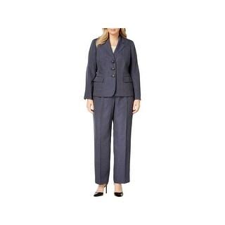 Le Suit Womens Plus Pant Suit Office Wear Denim