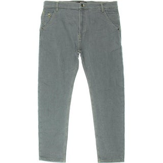 Zara Mens Drop Rise Ankle Crop Tapered Leg Jeans