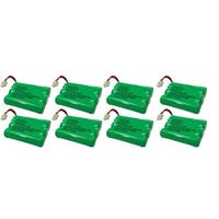 Replacement VTech i6763 / mi6821 NiMH Cordless Phone Battery - 600mAh / 3.6V (8 Pack)