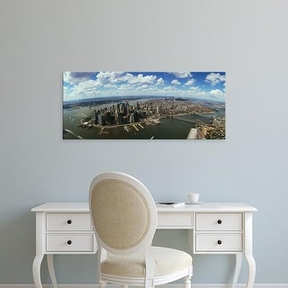 Easy Art Prints Panoramic Image 'Aerial view of buildings in a city, New York City, New York State, USA' Canvas Art