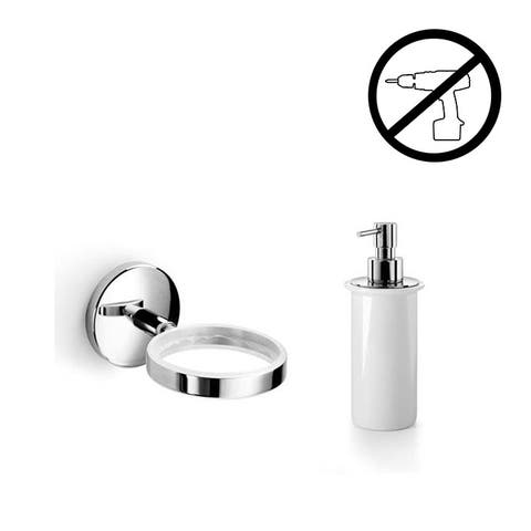 WS Bath Collections Noanta 53271+55006-G Wall Mounted Ceramic Soap Dispenser from the Noanta Glue Collection -