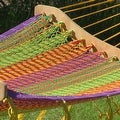 Sunnydaze Thick Cord Mayan Hammock with Curved Spreader Bars - Thumbnail 4
