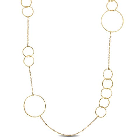Miadora 18k Yellow Gold Multi-Circle Station Necklace